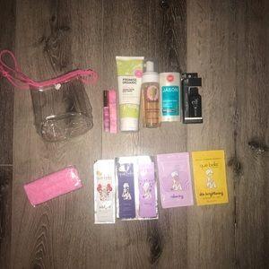 13 piece beauty lot Tarte lip gloss face wash mask